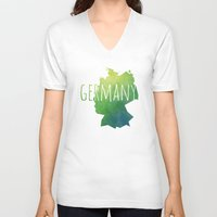 germany V-neck T-shirts featuring Germany by Stephanie Wittenburg