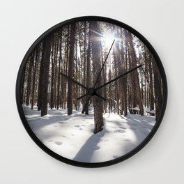 Yellowstone National Park - Lodgepole Forest 2 Wall Clock