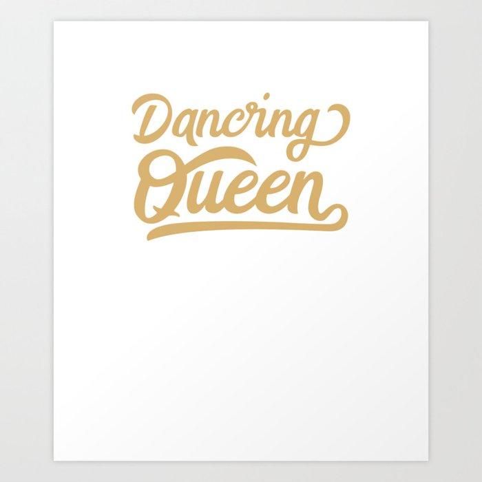 Retro Seventies Disco Dancing Queen 70s Art Print by cedinho