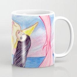 Moon Three Mermaid Sister Friendship Tribe Girl Power Coffee Mug