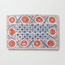 Bokhara Nim Suzani South West Uzbekistan Embroidery Metal Print
