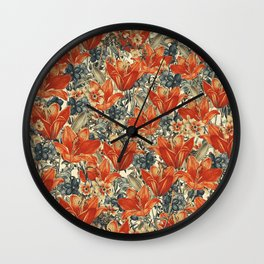 Vintage Garden 13 (Summer Sunset) Wall Clock
