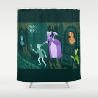 poe Shower Curtains featuring Poe Manor by notevenlookbad