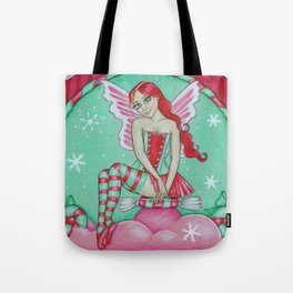 Cherry Mint Holiday Fairy Tote Bag