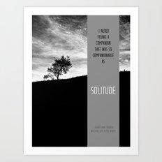 Henry David Thoreau - Solitude Art Print