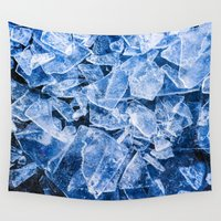 ice Wall Tapestries featuring Ice by digital2real