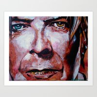 david bowie Art Prints featuring Bowie by Ray Stephenson