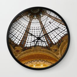 Galeries Lafayette in Color Wall Clock