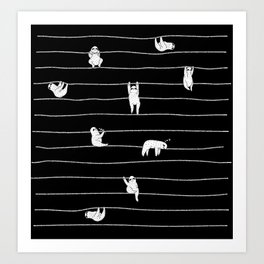 Sloth Stripe Art Print