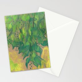 Green foliage Stationery Cards