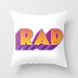 RAD block letters Throw Pillow