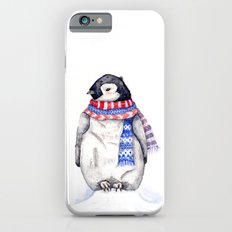 Baby Penguin in Red and Blue Scarf. Winter Season iPhone 6 Slim Case