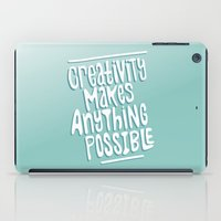 creativity iPad Cases featuring Creativity by Chelsea Herrick