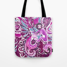 MONKEY TRICKSTER - PLUM Tote Bag