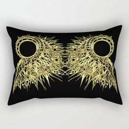 GOLDEN CURL - SHINING PAINTING ON BLACK BACKGROUND Rectangular Pillow