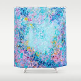 Follow my heart, Abstract Painting Shower Curtain