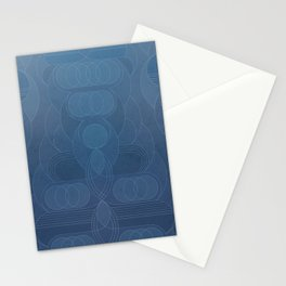 Round and About Blue Gray Stationery Cards