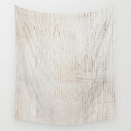 White vintage wood Wall Tapestry
