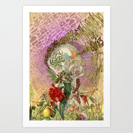 """""""Everything Within"""" anatomical collage art by Bedelgeuse Art Print"""