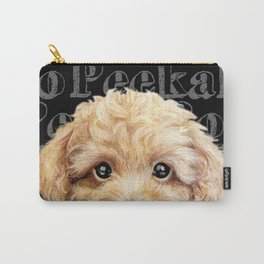 Peek A Boo-Toy poodle-Beige yellow tone Carry-All Pouch