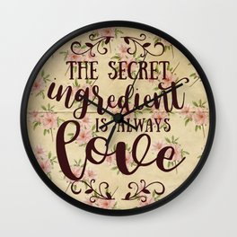 The Secret Ingredient Wall Clock