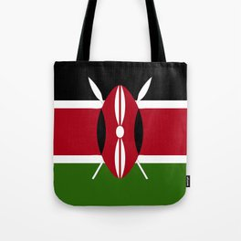 Kenya flag emblem Tote Bag