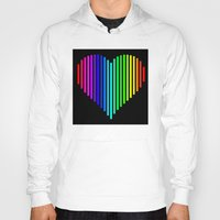 techno Hoodies featuring Techno Love by JG Designs
