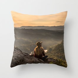 Morning on Starr Mtn Throw Pillow