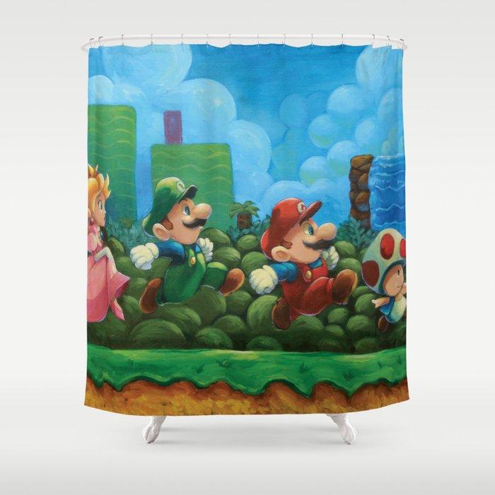 Super Mario Bros 2 Shower Curtain By Joshjdunbar