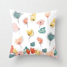 Wild Beauty Saffron Throw Pillow