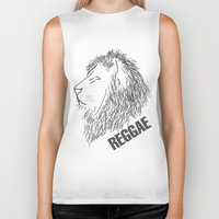 reggae Biker Tanks featuring Reggae Lions by Teo Designs
