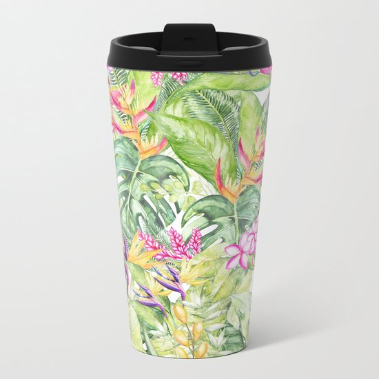 Tropical Garden 1A #society6 Metal Travel Mug