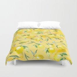 Watercolor lemons 5 Duvet Cover