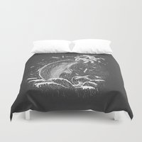 narwhal Duvet Covers featuring Narwhal Skewer by victor calahan