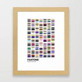 BoJack - FANTONE® Collection Framed Art Print