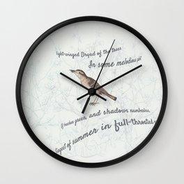 A Nightingale in full throat Wall Clock