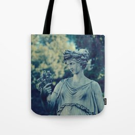 Alone in the Garden :  A Walk in Rome Tote Bag