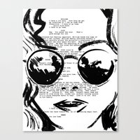 almost famous Canvas Prints featuring Almost Famous Screenplay Portrait by Josh Abraham