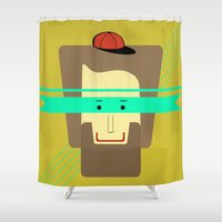 superhero Shower Curtains featuring current superhero by AmDuf