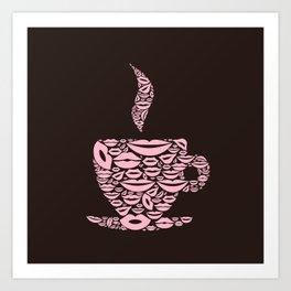 Cup a lip Art Print