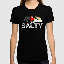Winter Salty Snow Plow Driver T-shirt