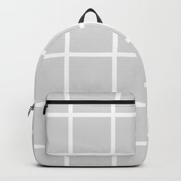 Simple modern gray background with a white grid Backpack