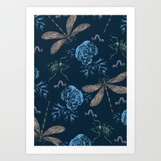 Insects Pattern #1 Art Print