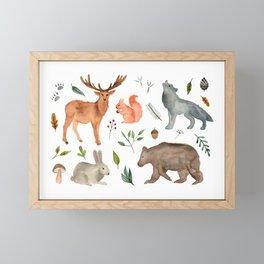 Forest team Framed Mini Art Print