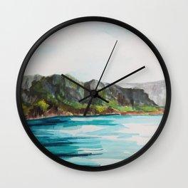 Napali Coast Dreaming Wall Clock