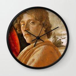 Sandro Botticelli Probable self-portrait of Botticelli, in his Adoration of the Magi (1475) Wall Clock