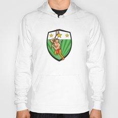 Native American Lacrosse Player Shield Hoody