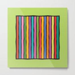 dp203-4 Colorful Stripes Metal Print
