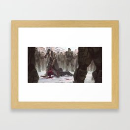 Russian Mob Boss Beats the Fuck Out of Some Guy Framed Art Print