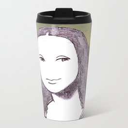 Chibi Mona.. Metal Travel Mug